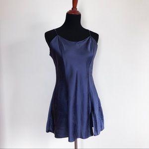 victoria's secret   navy silk night chemise large
